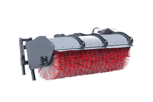 # Road brush for skid steer loader